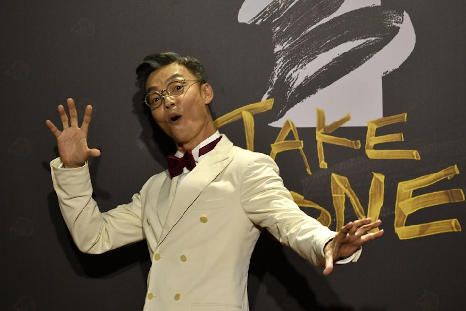 Singaporean actor Mark Lee arrives on the red carpet at the 57th Golden Horse film awards, dubbed the Chinese 'Oscars', in Taipei on November 21, 2020. (Photo by SAM YEH / AFP) (Photo by SAM YEH/AFP via Getty Images)