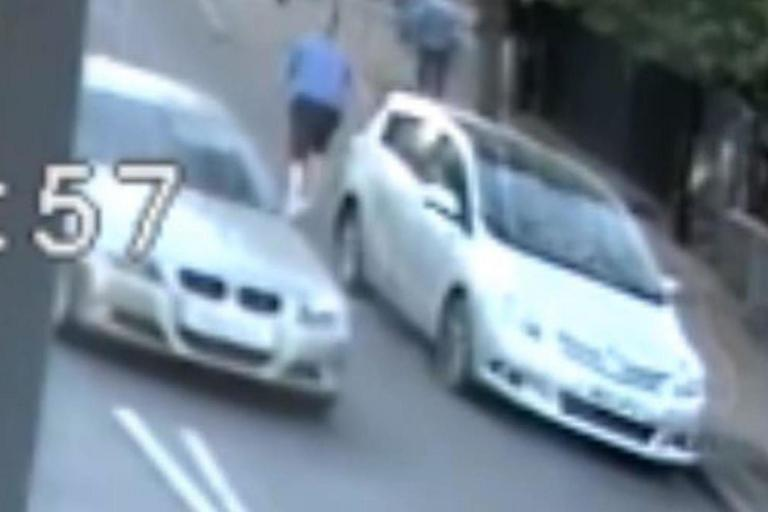 Shocking footage shows pensioner shoved into brick wall and left unconscious in 'brutal' road rage attack