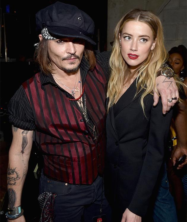 Johnny Depp and Amber Heard. Photo: Getty