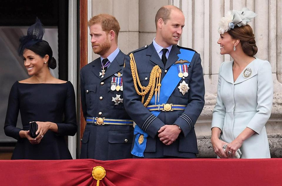 The young royals have some enviable celebrity connections. [Photo: Rex]