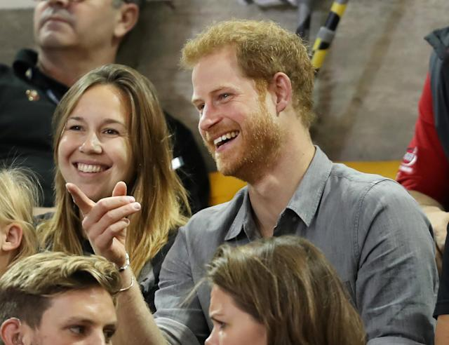 Britain's Prince Harry, patron of the Invictus Games Foundation, attends Sitting Volleyball competition at the games in Toronto, Ontario, Canada, September 27, 2017. REUTERS/Fred Thornhill