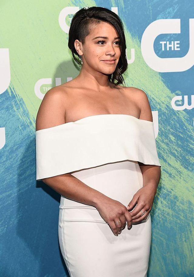 <p>Rodriguez ditched her <em>Jane the Virgin</em> aesthetic when she shaved half of her head for her role in <em>Annihilation,</em> set to come out sometime this year. (Photo: Getty Images) </p>