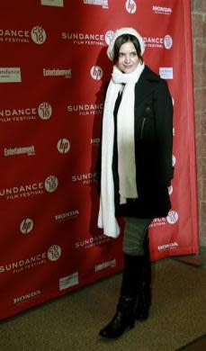 """Actress and cast member Katie Holmes arrives for the premiere of the film """"The Extra Man"""" at the Sundance Film Festival in Park City, Utah January 25, 2010."""