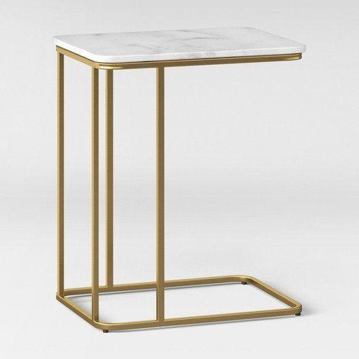 """<a href=""""https://www.target.com/p/highfield-c-table-white-marble-project-62-153/-/A-52337878#lnk=newtab"""" target=""""_blank"""">Shop it here</a>."""