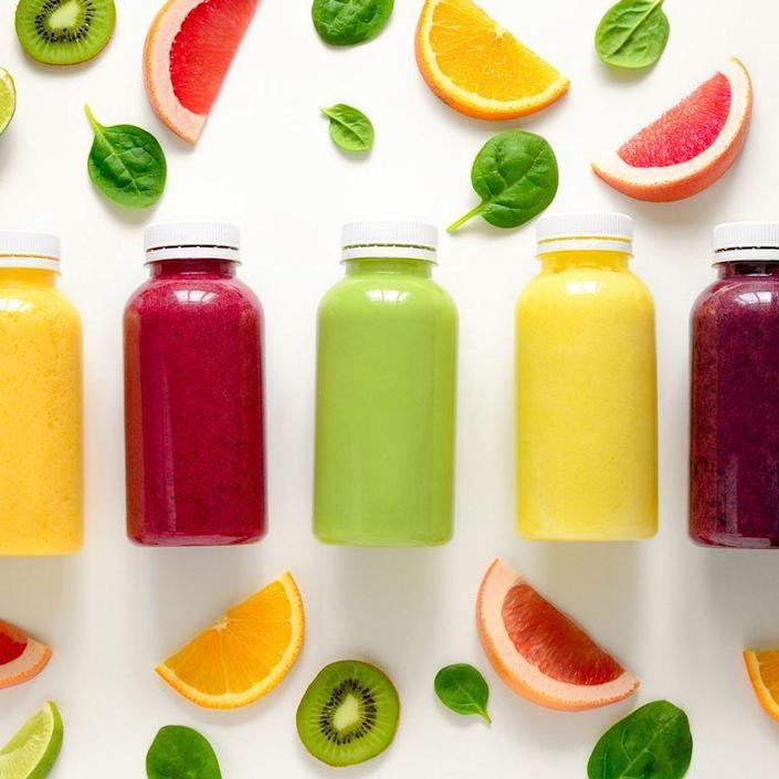 """<p>Pre-made smoothies are often made using fruit juice as a base, making them high in added sugars and calories, says Costa. """"A 20-ounce commercial smoothie can be upwards of 200 to 1,000 calories, one to 30 grams of fat, and 15 to 100 grams of added sugar,"""" she says. Instead, make your own smoothies using frozen fruits and vegetables, low-fat milk, yogurt, and protein powder.</p>"""