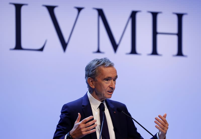 FILE PHOTO: LVMH luxury group CEO Arnault announces 2019 results in Paris