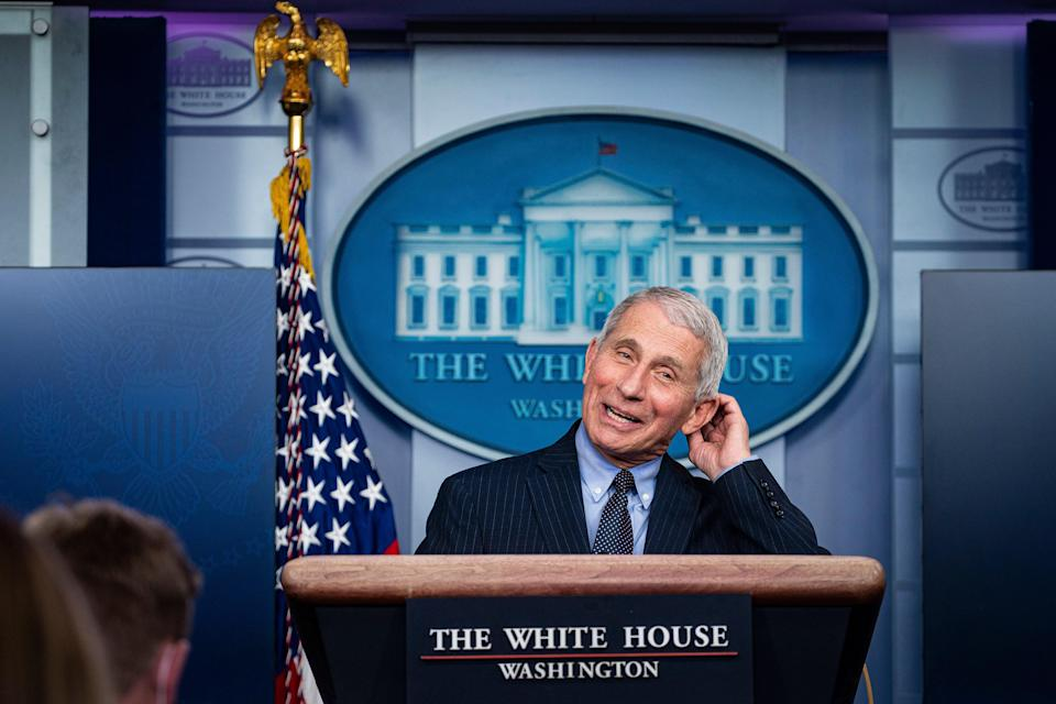 <p>File image: Anthony Fauci has carefully voiced his displeasure with the Trump administration over the past few days</p> (EPA)