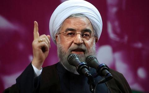 Mr Rouhani has not yet addressed the protests - Credit: Vahid Salemi/AP