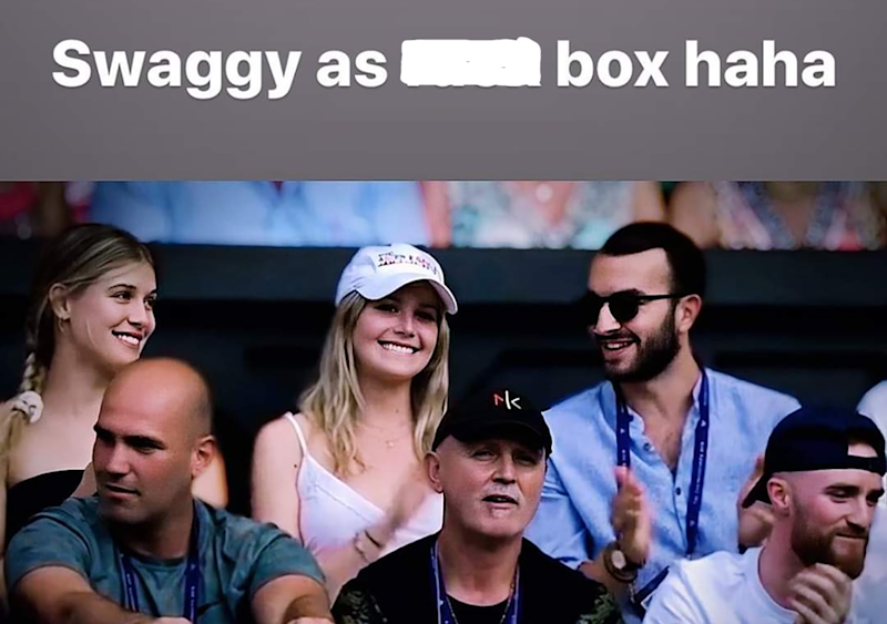 Nick Kyrgios' photo of Eugenie Bouchard, pictured here at Wimbledon in 2019.