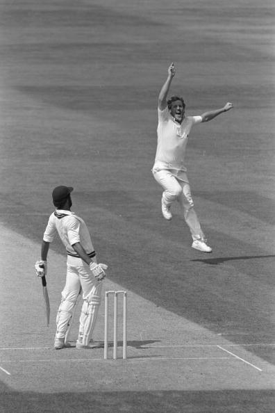 Aug 1984:  Ian Botham collects his 300th Test wicket as Jeff Dujon is caught by Chris Tavare in the slips.  England v West Indies 5th Test at The Oval.                                              Mandatory Credit:  Adrian Murrell/Allsport UK