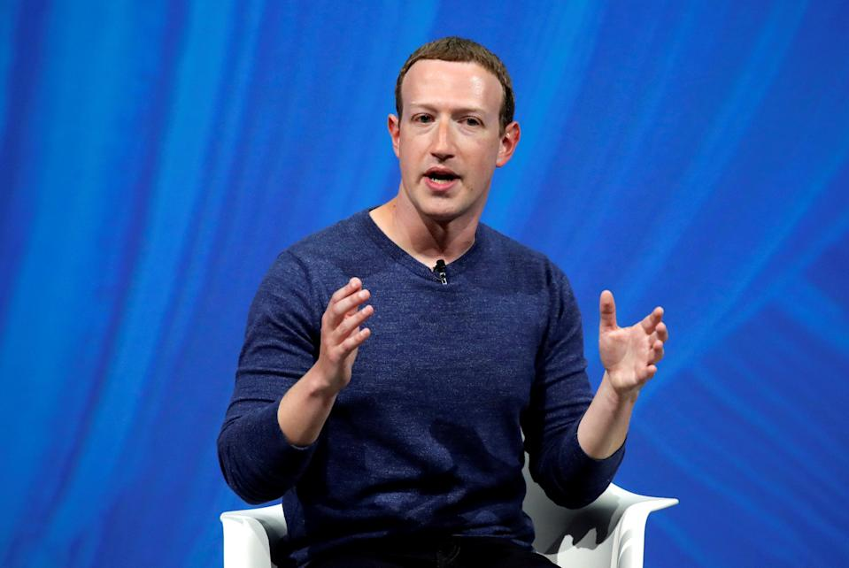 Facebook's founder and CEO Mark Zuckerberg speaks at the Viva Tech start-up and technology summit in Paris, France, May 24, 2018. REUTERS/Charles Platiau/File Photo