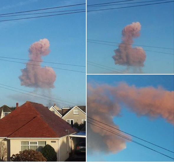 Penis-shaped cloud gets locals giggling in Wales
