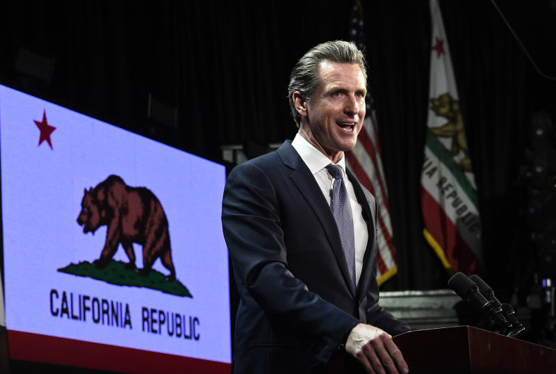Gavin Newsom, governor of California. (Photo by Kevork Djansezian/Getty Images)