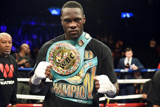 Deontay Wilder hasn't caught on as a mainstream attraction despite an unbeaten and dominant record. (Getty)