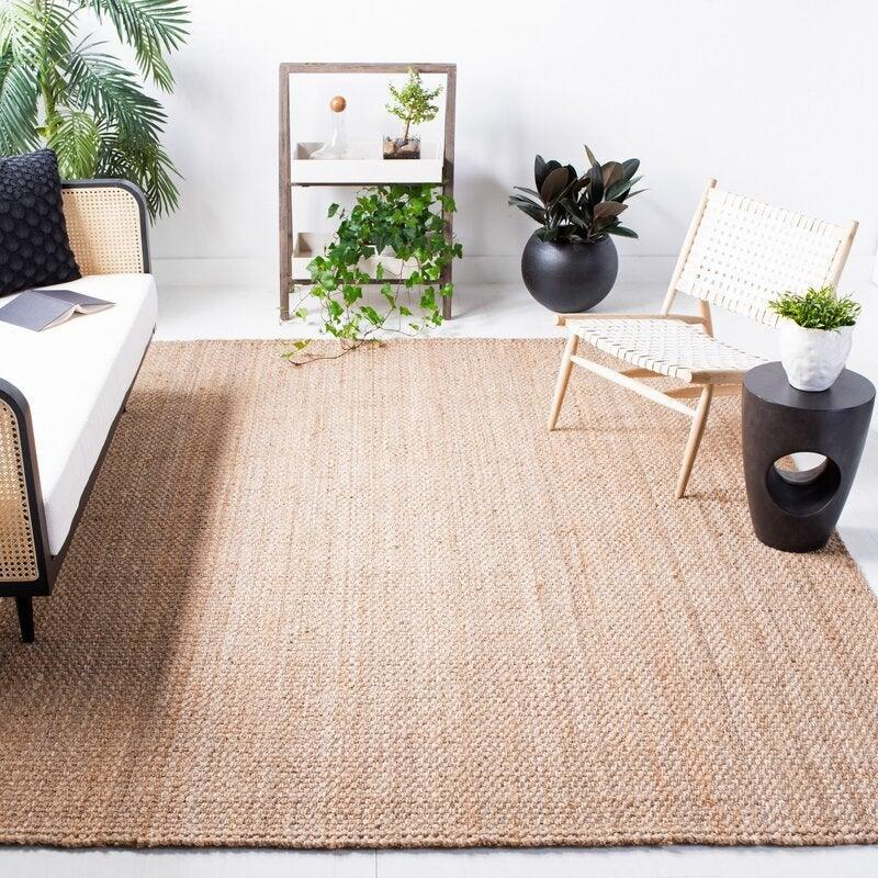 "<br><br><strong>Highland Dunes</strong> Handwoven Jute/Sisal Natural Area Rug, $, available at <a href=""https://go.skimresources.com/?id=30283X879131&url=https%3A%2F%2Fwww.wayfair.com%2Frugs%2Fpdp%2Fhighland-dunes-addilyn-handwoven-jutesisal-natural-area-rug-hlds4129.html%3Fpiid%3D22829509"" rel=""nofollow noopener"" target=""_blank"" data-ylk=""slk:Wayfair"" class=""link rapid-noclick-resp"">Wayfair</a>"