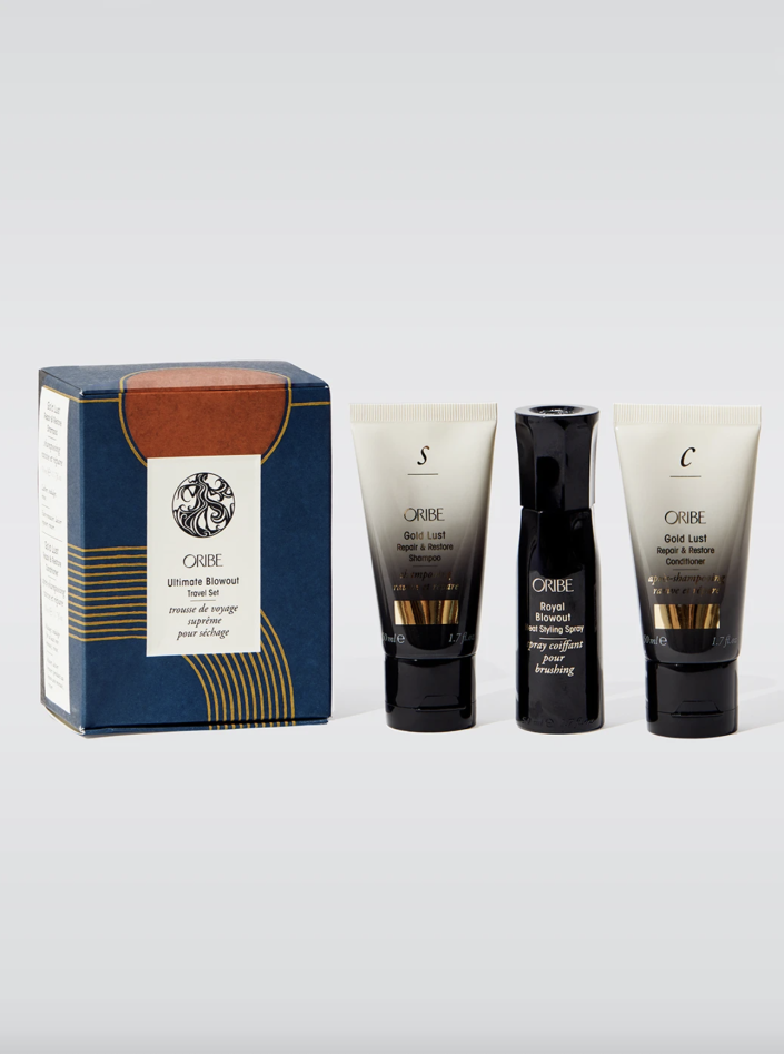 """<p><strong>Oribe</strong></p><p>carbon38.com</p><p><a href=""""https://go.redirectingat.com?id=74968X1596630&url=https%3A%2F%2Fcarbon38.com%2Fcollections%2Fsitewide-eligible%2Fproducts%2Fultimate-blowout-travel-set&sref=https%3A%2F%2Fwww.cosmopolitan.com%2Fstyle-beauty%2Fg37668911%2Fcarbon38-fall-sale-fashion%2F"""" rel=""""nofollow noopener"""" target=""""_blank"""" data-ylk=""""slk:Shop Now"""" class=""""link rapid-noclick-resp"""">Shop Now</a></p><p><strong><del>$50</del> $35 </strong></p><p>Whether you're headed back to SoulCycle, OrangeTheory, or your local gym, you deserve salon-quality hair care for hitting the shower after every workout. Oribe's set is pint-sized for your gym bag and guarantees healthy volume.</p>"""