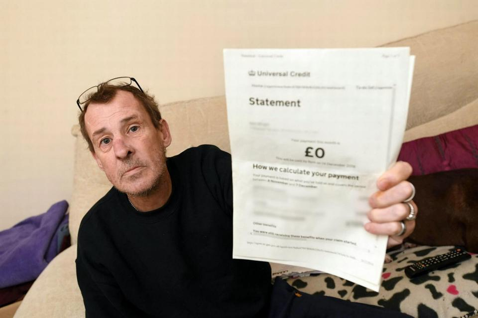 Neil Wright, who received a 1p Universal Credit payment over Christmas (SWNS)