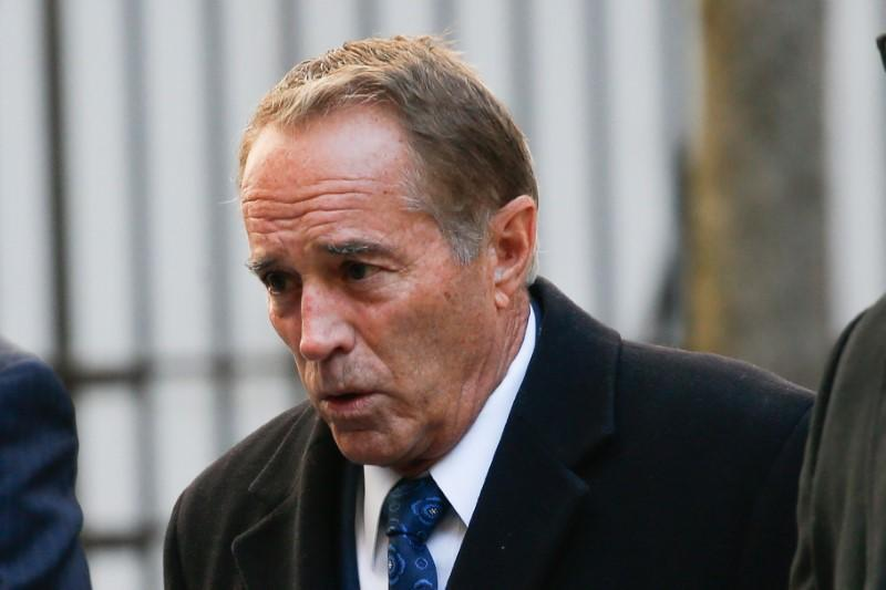 Collins, former U.S. Representative for New York's 27th congressional district arrives at New York Federal Court to be sentenced in the Manhattan borough of New York City
