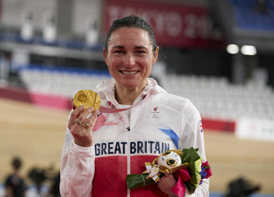 Evergreen Storey, 43, racked up her 15th gold medal at the Paralympic Games with a stunning performance in Izu