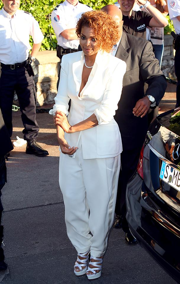 Janet Jackson attends amfAR's 20th Annual Cinema Against AIDS during The 66th Annual Cannes Film Festival at Hotel du Cap-Eden-Roc in Cap d'Antibes.