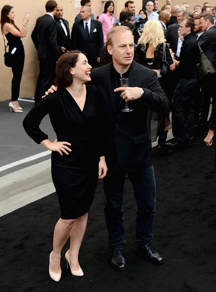 "CULVER CITY, CA - JULY 24: Actors Laura Fraser and Bob Odenkirk arrive as AMC Celebrates the final episodes of ""Breaking Bad"" at Sony Pictures Studios on July 24, 2013 in Culver City, California. (Photo by Mark Davis/Getty Images)"