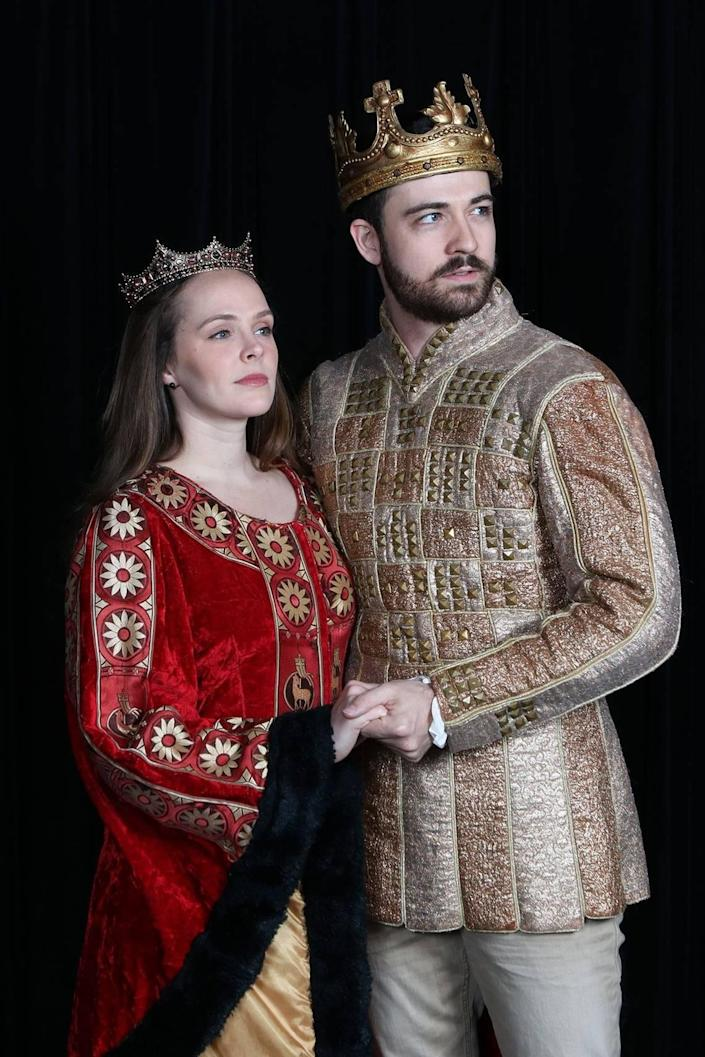 "Kayleen Seidl is Guenevere to Britt Michael Gordon's King Arthur in Actor's Playhouse ""Camelot."""