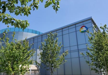 A Google Cloud logo outside the Google Cloud computing unit's headquarters in Sunnyvale, California