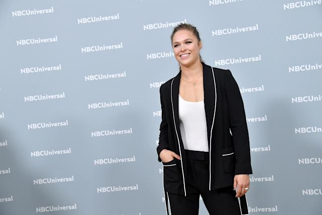 Ronda Rousey says she almost lost a finger after a freak accident. (Getty Images)