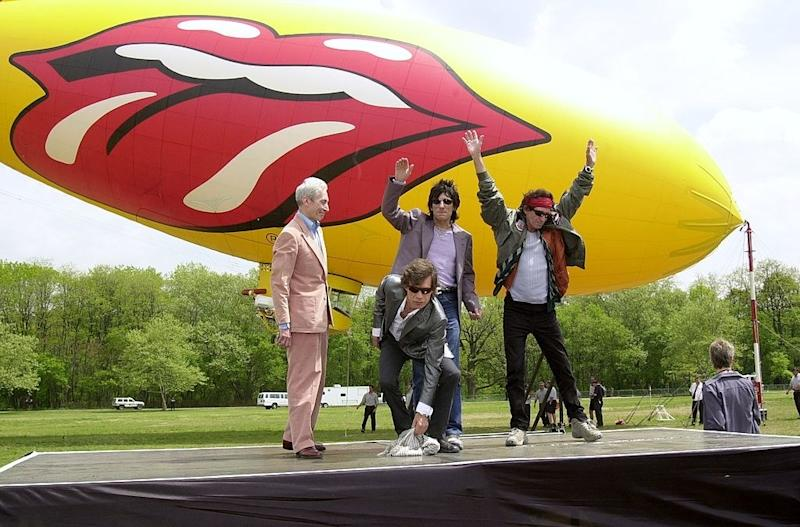 Oh, it's nothing, just the Rolling Stones with their tongue blimp in May 2002