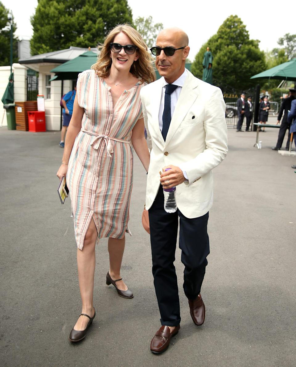 <p>Actor Stanley Tucci joined the star-studded guest list on 12 July with Felicity Blunt. <em>[Photo: PA]</em> </p>