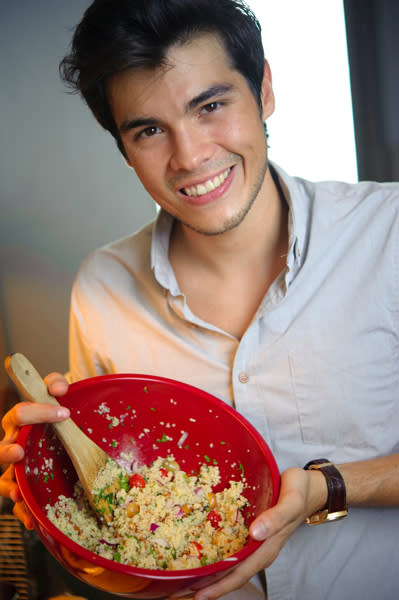 <b>Erwan Heussaff</b> is Filipino-French. Into healthy food? Then Heussaff is the hottie you'd want in your kitchen! This TV personality's diet—which consists of healthy home-cooked meals—helped him lose over 100 pounds in the past few years. A business manager by day, Heussaff continues to advocate healthy eating through his health food blog.