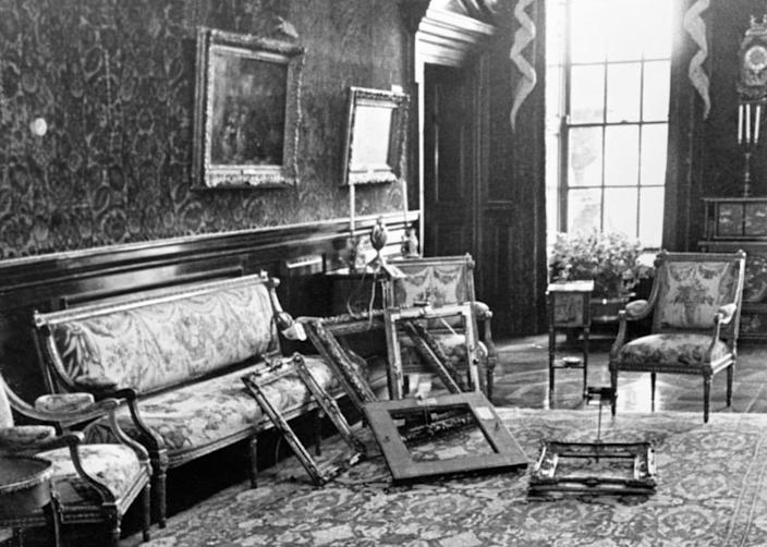 """<div class=""""inline-image__title"""">854461182</div> <div class=""""inline-image__caption""""><p>""""Empty frames in a room at Russborough House, home of millionaire art collector Alfred Beit. A gang stole 19 paintings from the property in County Wicklow.""""</p></div> <div class=""""inline-image__credit"""">PA Images/Getty</div>"""