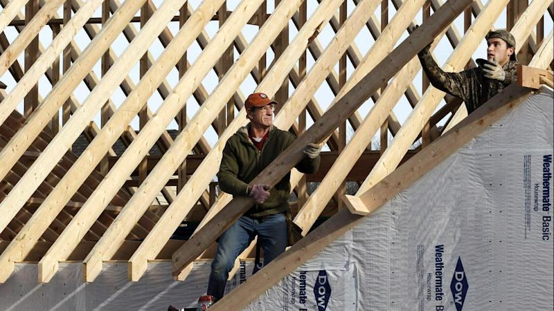 <p>Home building approvals have jumped nearly 12 per cent, Australian Bureau of Statistics data shows.</p>