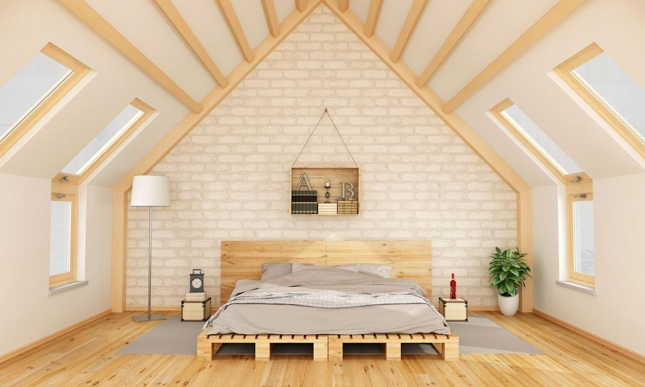 """<p>If you're thinking up new <a href=""""https://www.countryliving.com/home-design/g1192/bedroom-designs-gallery/"""">bedroom decorating ideas</a> or <a href=""""https://www.countryliving.com/home-design/decorating-ideas/g678/guest-bedroom-decorating-1208/"""">guest bedroom ideas</a> to improve your day-to-day and others' too, why not start with where you sleep? After all, sleep is a staple in everyone's lives and is known to play a major role in mood, energy, and overall quality of life. </p><p>That said, when it comes to buying (or DIY-ing) the perfect sleeping arrangement, you don't need to think big. In fact, it doesn't need to be extravagant at all. Some studies show that sleeping low to the ground is actually the way to go, as the lower you are, the better your circulation will be—and that's where pallet beds come into play. While they were once thought of as peasantly sleeping quarters, they're now a calculated decision in healthy sleep habits. And despite the assumption that they're made solely of chunky pallets, some only feature internal slats, allowing for minimalist frames that look less rustic.</p><p>Intrigued? We thought you might be. That's why we scanned the web for all the best pallet beds that bloggers and stores have to offer. Whether you want to build your own dream bed or conveniently add one to your virtual cart, ahead you'll find 10 of our favorite pallet beds. (And check out our <a href=""""https://www.countryliving.com/home-design/decorating-ideas/advice/g1389/cozy-bedroom-ideas/"""">cozy bedroom ideas</a> and <a href=""""https://www.countryliving.com/home-design/decorating-ideas/g30569494/rustic-bedroom-ideas/"""">rustic bedroom ideas</a> too!)</p>"""