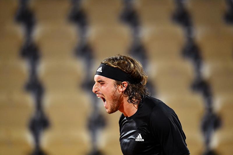 Stefanos Tsitsipas battled from two sets down to book his spot in the second roundGetty Images