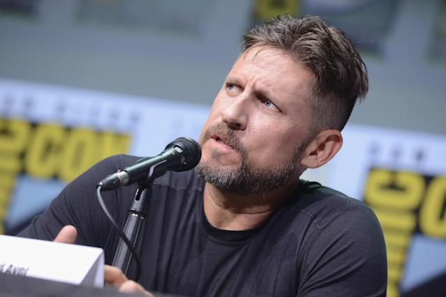"""David Ayer speaks onstage at Netflix's """"Bright"""" and """"Death Note"""" panel during Comic-Con International 2017. (Photo by Albert L. Ortega/Getty Images)"""