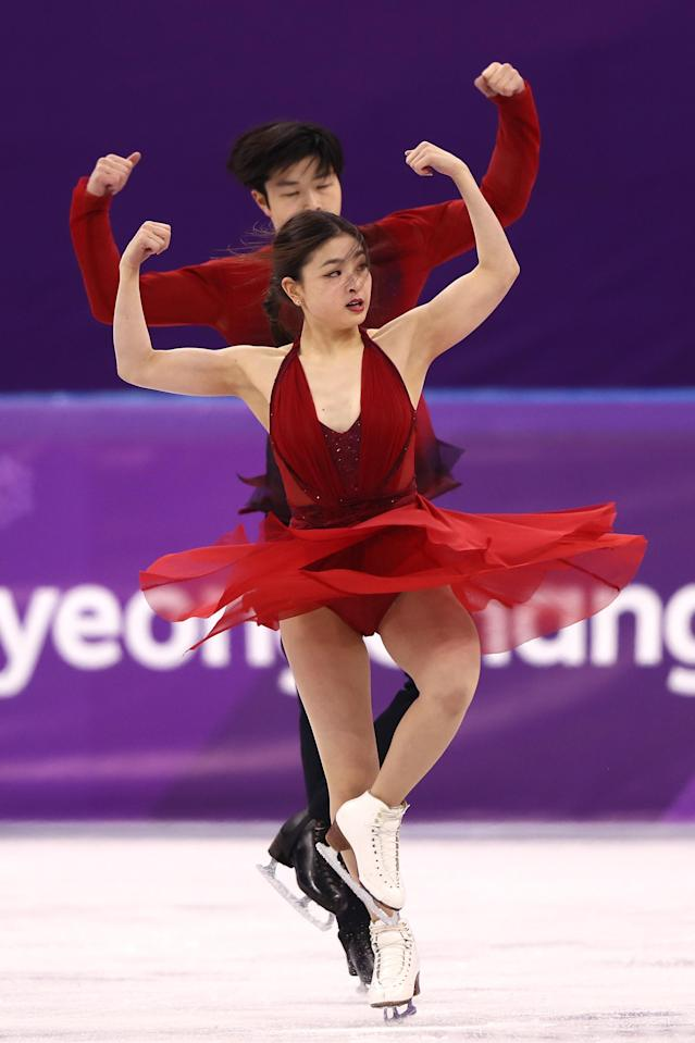 <p>Maia Shibutani and Alex Shibutani of the United States compete in the Figure Skating Ice Dance Free Dance on day eleven of the PyeongChang 2018 Winter Olympic Games at Gangneung Ice Arena on February 20, 2018 in Gangneung, South Korea. (Photo by Jamie Squire/Getty Images) </p>