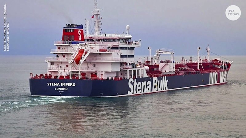 An audio recording reveals the tense moments before a British-flagged oil tanker was seized by Iranian Revolutionary Guard forces.
