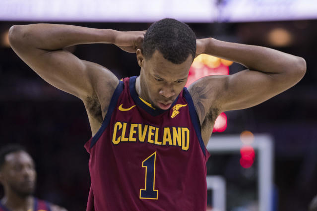 Cleveland Cavaliers' Rodney Hood reportedly refused to enter Game 4 against the Toronto Raptors. (AP Photo/Chris Szagola)