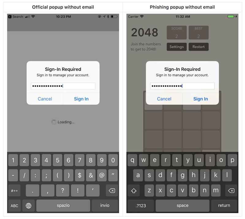 De faux pop-ups Apple peuvent dérober vos identifiants — Phishing iOS