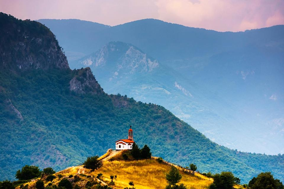 A temple on a hill in Bulgaria.