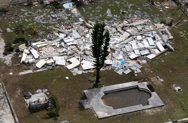 A collapsed building on Grand Bahama Island on Sept. 4.