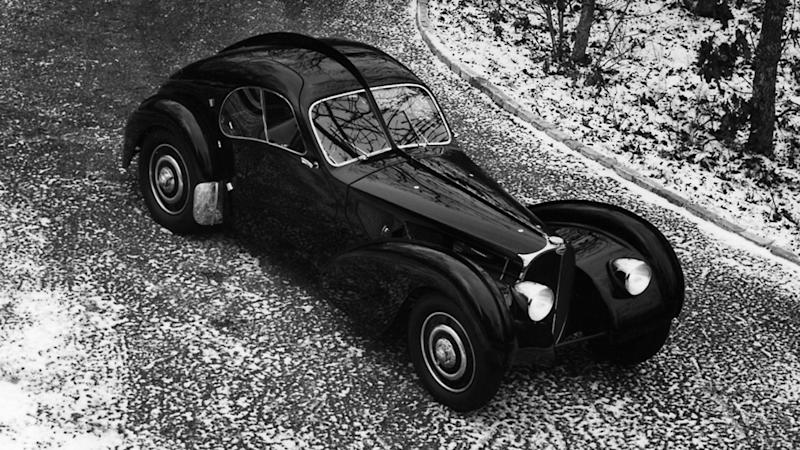 A 1938 Bugatti Type 57 SC Atlantic Coupé.