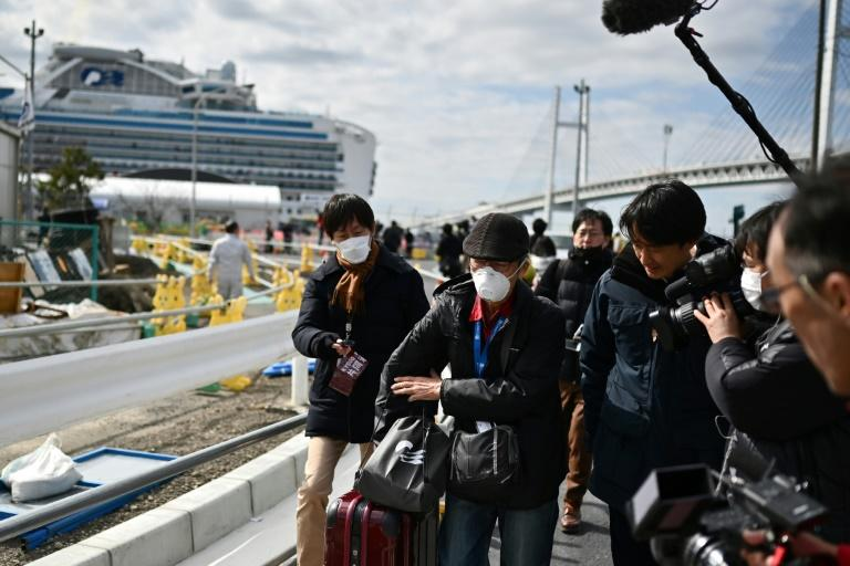 On Wednesday hundreds of passengers on the Diamond Princess who tested negative for the virus began leaving the ship