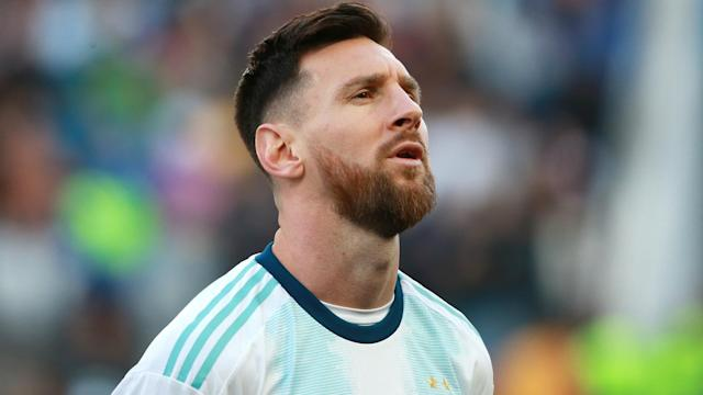 Lionel Messi is serving a suspension handed down following the Copa America.