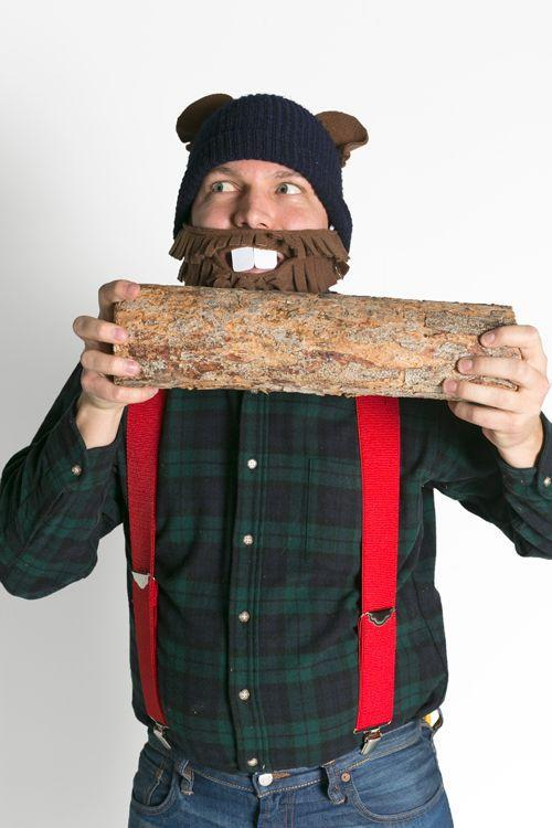 """<p>It may look like a simple lumberjack get-up, but this men's costume goes above and beyond by playing on the popular tongue-twister: """"How much wood could a woodchuck chuck if a woodchuck could chuck wood?""""</p><p><strong>Get the tutorial at <a href=""""https://thehousethatlarsbuilt.com/2014/10/tongue-twister-halloween-costumes.html/"""" rel=""""nofollow noopener"""" target=""""_blank"""" data-ylk=""""slk:The House That Lars Built"""" class=""""link rapid-noclick-resp"""">The House That Lars Built</a>.</strong></p><p><strong><a class=""""link rapid-noclick-resp"""" href=""""https://www.amazon.com/Brown-Anti-Pill-Fleece-Fabric-Polyester/dp/B00N4A2NTE/?tag=syn-yahoo-20&ascsubtag=%5Bartid%7C10050.g.21600836%5Bsrc%7Cyahoo-us"""" rel=""""nofollow noopener"""" target=""""_blank"""" data-ylk=""""slk:SHOP BROWN FLEECE RABRIC"""">SHOP BROWN FLEECE RABRIC</a><br></strong></p>"""