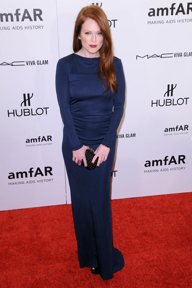 Julianne Moore, thumbs up for the colour, thumbs down for the style.