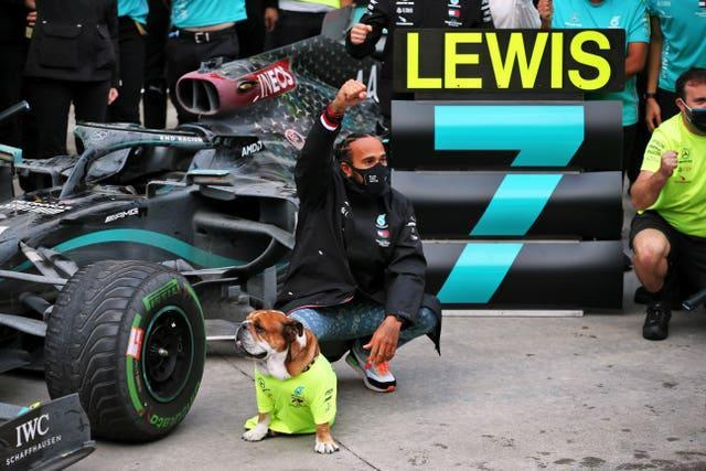 Hamilton last year became a seven-time F1 champion (PA).