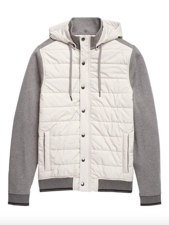 "<p>The <a href=""https://www.popsugar.com/buy/Quilted-Hoodie-Sweatshirt-516643?p_name=Quilted%20Hoodie%20Sweatshirt&retailer=bananarepublic.gap.com&pid=516643&price=75&evar1=savvy%3Aus&evar9=46893269&evar98=https%3A%2F%2Fwww.popsugar.com%2Fsmart-living%2Fphoto-gallery%2F46893269%2Fimage%2F46893299%2FQuilted-Hoodie-Sweatshirt&list1=shopping%2Cbanana%20republic&prop13=mobile&pdata=1"" rel=""nofollow"" data-shoppable-link=""1"" target=""_blank"" class=""ga-track"" data-ga-category=""Related"" data-ga-label=""http://bananarepublic.gap.com/browse/product.do?pid=517459012&amp;cid=1132143&amp;pcid=13846&amp;vid=1&amp;grid=pds_64_541_1#pdp-page-content"" data-ga-action=""In-Line Links"">Quilted Hoodie Sweatshirt</a> ($75, originally $149) is the perfect multitasker for very fickle Mother Nature. It's one part puffer, one part sweatshirt, and topped off with a water-repellent hood.<br></p>"