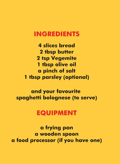 Adam Liaw ingredients for spaghetti bolognese